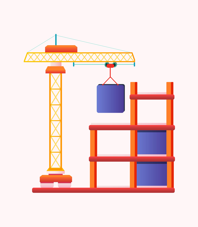 chantier de construction et salariés