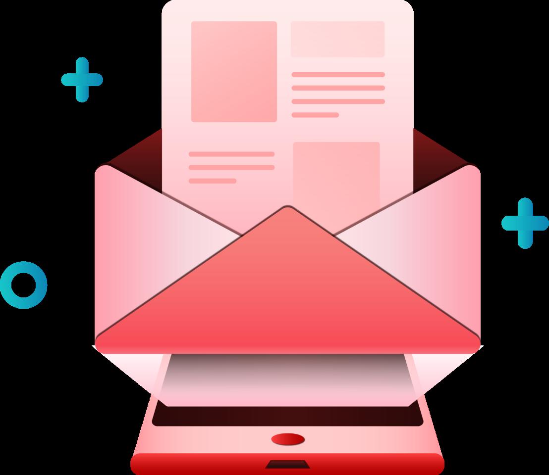 enveloppe et smartphone Elamp