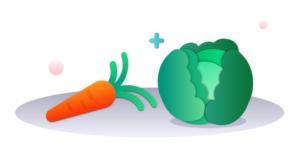 choux et carottes