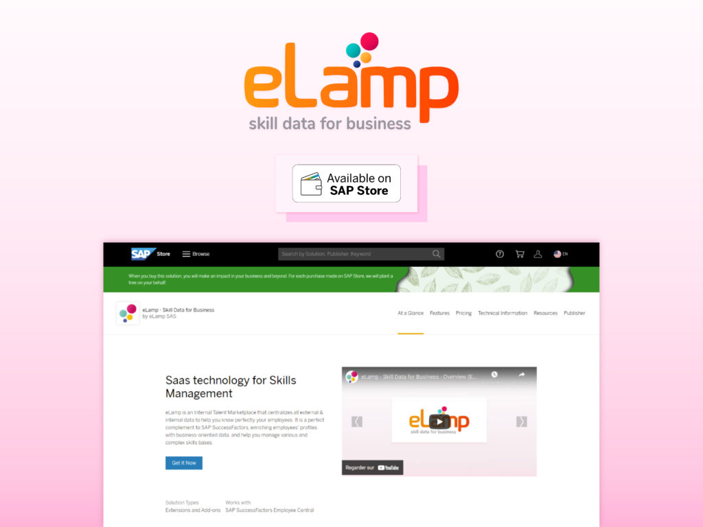 elamp available on sap store